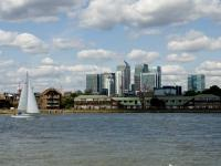 Canary wharf viem from Greenwich