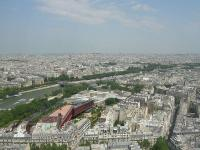 paris top view from Eiffel Tower