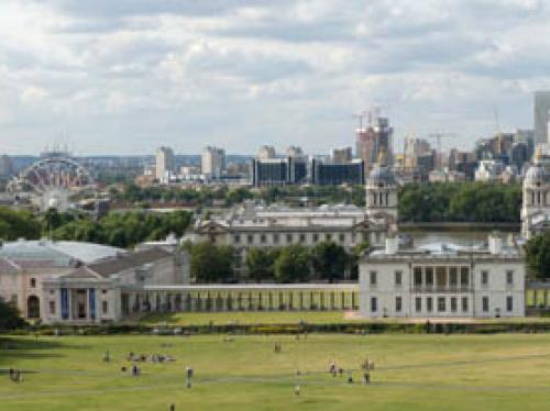 Greenwich hill Panorama north London