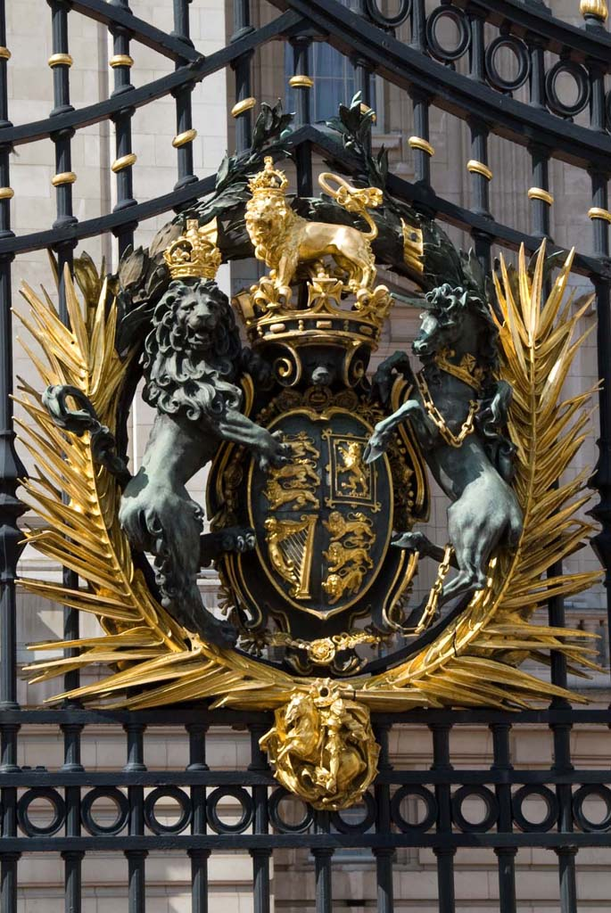 Buckingham Palace gate detail